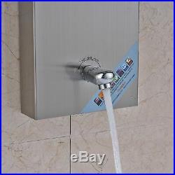 LED Rain Waterfall Shower Head Panel Tower Spa Massage Jets Handheld Sprayer Set