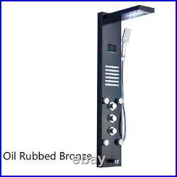 LED Rainfall Mixer Bathroom Shower Column/Panel Massage Jets Faucet Taps Units