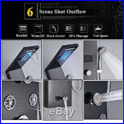LED Screen Shower Panel Column Water Tower With Shower Hand Bathroom Body Jets UK