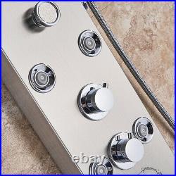 LED Shower Panel Column Stainless Steel Massage SPA Jets Shower Bath Mixer Tap