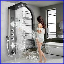 LED Shower Panel Column Tower Massage Body Jets Stainless Steel Bathroom Mixer