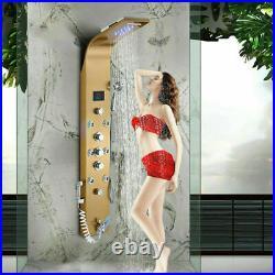 LED Shower Panel Column Tower Temperature Display Massage Body Jets Mixer Unit