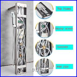 LED Shower Panel Stainless Steel Rain&Waterfall Tower Massage System Tub WithSpray