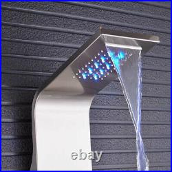 LED Shower Panel Tower Column Stainless Steel Rainfall Shower Head With Body Jets