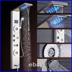 LED Shower Panel Tower Column Temperature Display with Massage Body Jets Mixer