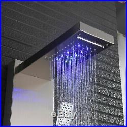 LED Shower Panel Tower Column Waterfall Bathroom System Unit Massage Body Jet UK