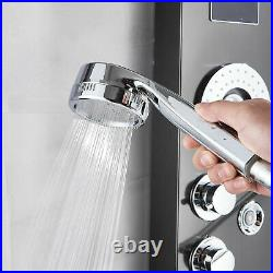 LED Shower Panel Tower Massage Body Jets Stainless Steel Bathroom Mixer Tap New