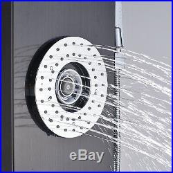 LED Shower Panel Tower Massage Jets Hand Shower Mixer Tap Rain Waterfall Faucet