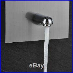 LED Shower Panel Tower Rain&Waterfall Massage System Body Jet Brushed Nickel