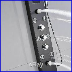 LED Shower Panel Tower Rain&Waterfall with Massage Body System Oil Rubbed Bronze