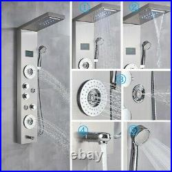 LED Shower Panel Tower Rainfall Waterfall Body Massager System Body Spray Jets