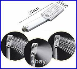LED Shower Panel Tower System, Hydroelectricity Display Rain Brushed Black