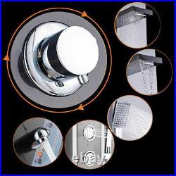 LED Shower Panel Tower System Rainfall Shower Massage Body Jet Sprayer Fixtures