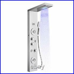 LED Shower Panel Tower System Rainfall Waterfall Shower Column, Rain Massage