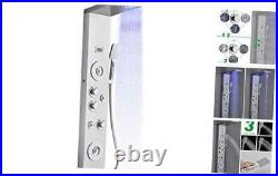 LED Shower Panel Tower System Rainfall Waterfall Shower Faucet Fixtures, Rain M