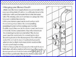 LED Shower Panel Tower System, Rainfall and Mist Head Rain Brushed Nickel(LED)