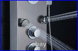 LED Shower Panel Tower System, Rainfall and Mist Head Rain Massage Stainless
