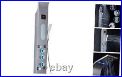 LED Shower Panel Tower System, Rainfall and Mist Head Rain Massage Stainless St