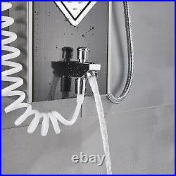 LED Shower Panel Tower System Shower Faucet Fixtures Bathroom Rain Massage