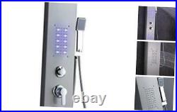 LED Stainless Steel Shower Panel Tower System, Rainfall Waterfall Shower Head R