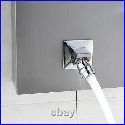 Massage Body Jets Shower Panel Column Tower Bathroom Twin Heads Stainless Steel