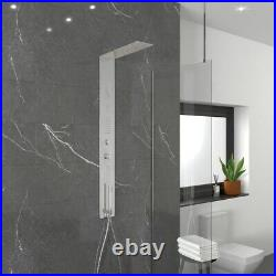 Modern Bathroom Chrome Thermostatic Concealed 3 outlet Shower Tower Panel