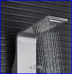 Modern Shower Tower Panel Column Body Massage Jets Waterfall Stainless Steel