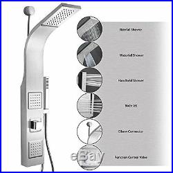 Multi Function Stainless Steel Wall Mount Shower Tower Panel Massage Spray 39