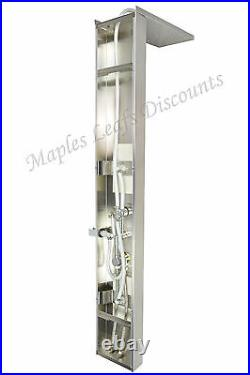 New 56 Thermostatic Shower Panel Bathroom Indoor Hot Water Column Tower Heating