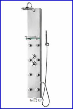 New 57 Hot Water Full Body Shower Heating System Panel Column Tower 8 Spa Jets