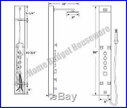 New 59 Full Body Spray Jet Hot Water Shower Tower Panel Bathroom Bathing System