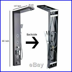 ORB Black Shower Panel Tower Rainfall&Waterfall Massage Body System Sprayer Jet