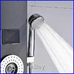 ORB LED Stainless Steel Rain Waterfall Shower Panel Tower Massage System Jets UK