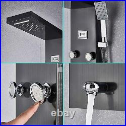 Oil Rubbed Bronze Thermostatic Shower Panel Rain&Waterfall Tower Massage System