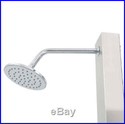 Outdoor Pool Shower Panel System Stainless Steel Poolside Water Spray Silver New