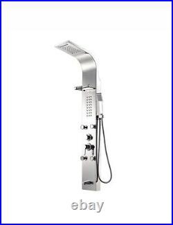 Pura Shower Panel Tower System With Rainfall Shower