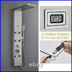ROVATE RVT8228 Luxury Shower Panel Tower System 304 Brushed Stainless Steel