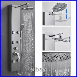 ROVOGO 304 Stainless Steel Shower Panel Tower System 8-inch Rainfall Shower H