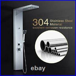 ROVOGO 304 Stainless Steel Shower Panel Tower System Rainfall Shower + Body M