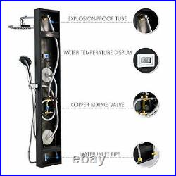 ROVOGO Stainless Steel Rainfall Shower Panel Tower System 9-inch Round Head S