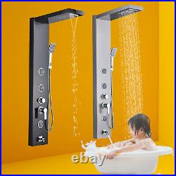 Rain Waterfall Shower Panel Tower Massage Body Jet System Faucet Stainless steel