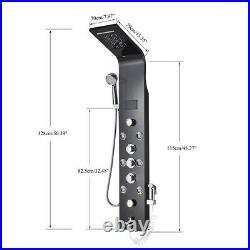 Rozin Shower Panel System Tower LED 6-Function Rainfall Massage Body Jets