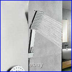 Rozin Shower Panel Tower Rain Waterfall Massage Body System Jets Sprayer Tap