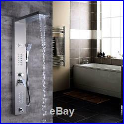 Shower Column Panel Waterfall Rainfall Nickel Thermostatic Shower Faucet Head