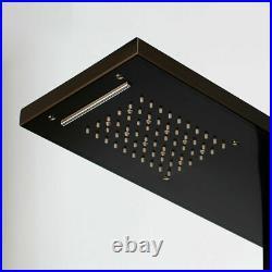 Shower Panel Body Massage System Jets Black Shower Column Faucet Digital Display
