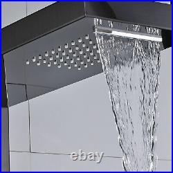 Shower Panel Column Stainless Steel Rainfall & Waterfall Shower Head Massage Jet