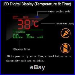 Shower Panel Column Tower LED Temperature Display Massage Body Jets Mixer Unit