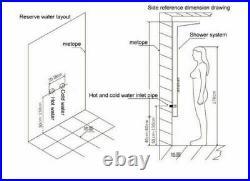 Shower Panel Column Tower Waterfall Rain Massage Body Jet Stainless Steel System