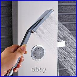 Shower Panel Column Wall Mount Stainless Steel Body Massage Jets Handheld Shower