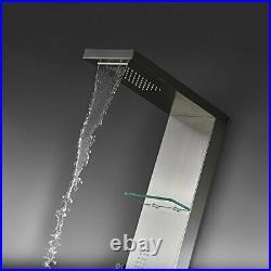 Shower Panel Head SUS 304 Stainless Steel Rainfall Multi-Function Tower Massage